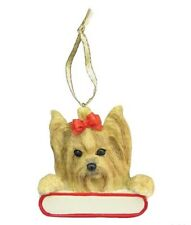 YORKIE--Santa's Pals DOG Christmas Ornament by E & S Pets-Personalizable