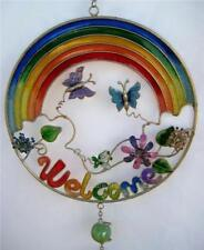 RAINBOW WELCOME BUTTERFLY WIND CHIME WINDCHIME SUNCATCHER NEW