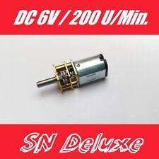 DC 6V Mini Getriebemotor gear motor 200 U/min  3mm Welle für Modellbau Roboter