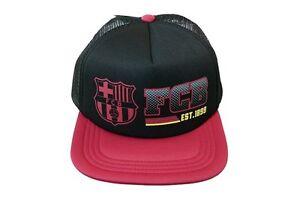 FC Barcelona soccer Trucker Cap hat FCB Team Colors large logo Official Licensed