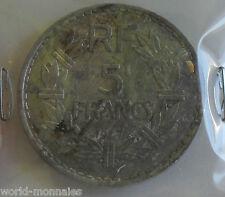 5 francs lavrillier alu 1947 fermé : B : pièce de monnaie française