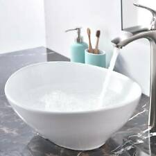 Bathroom Sink Large Deep White Oval Ceramic Counter Top Basin Hand Wash Bowl