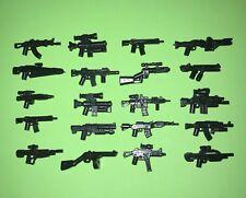 100 Custom LEGO Guns Lot WW2 Military Star Wars SWAT Weapons Works w/ Minifigure
