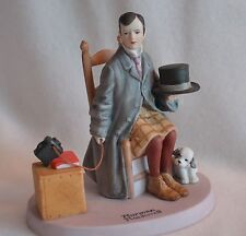 Self-Portrait - Normal Rockwell Danbury Mint Figurine Porcelain - Hand Crafted