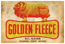 GOLDEN FLEECE H.C. SLEIGH VINTAGE TIN SIGN EXTRA LARGE 80 X 53 cm