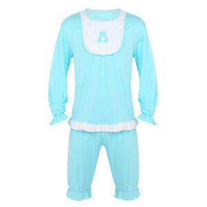 Adult Funny Sleepsuit Romper Cry Baby Fancy Dress Costume Outfit Bib Tops Shorts
