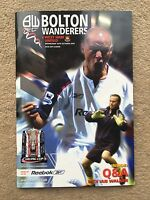 2005/06 Bolton Wanderers v West Ham United - Carling Cup 3rd Round  PROGRAMME