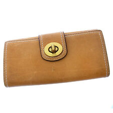 Auth Coach Long Purse Double Stitch Ladies used J7709
