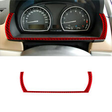 Red Carbon Fiber Instrument Speedometer Lower Decoration Trim For Bmw X3 2004 10