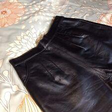 Vintage Robert Elliot Madison Avenue High Waisted Black Leather Shorts sz 12
