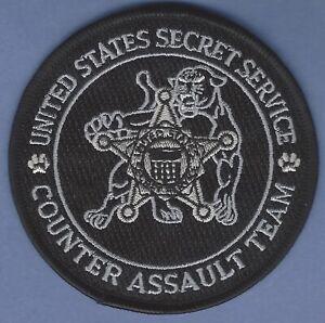 UNITED STATES SECRET SERVICE COUNTER ASSAULT TEAM SHOULDER PATCH BLACK