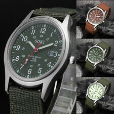 2016 Fashion Military Army Watch Men Sport Canvas Band Analog Quartz Wrist Watch