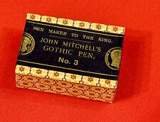 (PRL) MITCHELL'S GOTHIC 3 PENNINO PENNINI boîte PLUMES ENCRE INK NIB VINTAGE COL