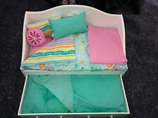 American Girl Doll Dreamy Day Bed With Trundle And Bedding