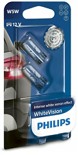 12V 5W PHILIPS SIDE LIGHT BULBS FOR Vauxhall Zafira BLUE 501's FRONT (W5W T10)