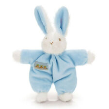 BLUE Soft Plush Gentle Rattling Sound Bunnies By The Bay Sweet Hops Bunny Rattle
