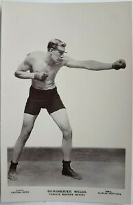 Bombardier Wells. Famous Boxers Series. Beagles Postcard 159L. Real Photo.