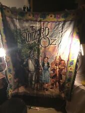 "Collectible Wizard Of Oz Woven Tapestry Throw Blanket 2002 48"" x 60"""