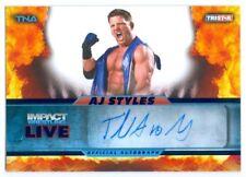 "AJ STYLES ""AUTOGRAPH CARD #19/25"" TNA IMPACT LIVE 2013"