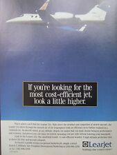 9/1992 PUB BOMBARDIER LEARJET 31A BUSINESS JET EXECUTIVE AIRCRAFT ORIGINAL AD