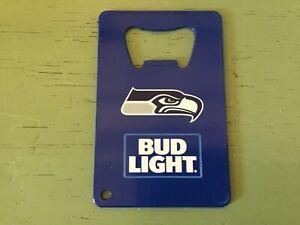New Seattle Seahawks / Bud Light Bottle Opener ( Can go on Key Chain)