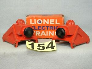 SET OF TWO LIONEL O GAUGE DIE-CAST #260 LIGHTED TRACK BUMPERS, READY TO RUN