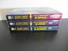 Lot of 3~Star Trek Paperbacks~The Q Continuum~Complete Series~Books 1-3
