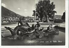 vecchia cartolina di como bianco e nero 1954 77682