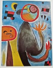 Joan Miro Authentic Poster Ladders Cross the Blue Sky in a Wheel of Fire 16x12