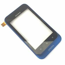 100% Genuine Sony Xperia Tipo ST21i front fascia+digitizer touch screen Blue