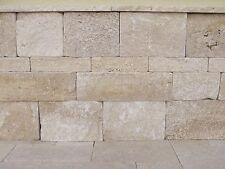 Trockenmauer Mauerstein Natursteinmauer Gartenmauer Travertin Medium Wohnrausch