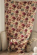 Vintage French fabric c1930 printed cotton furnishing botanical pomegranate