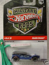 2009 Hot Wheels #16 Military Rods DOUBLE DEMON☆BLUE ☆