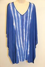 NWT ViX by Paula Hermanny Swimsuit Cover up Dress Size L Cayman V Caftan Blue