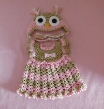 Wellie Wishers Doll Clothes Pink Owl Dress & Hat Fits American Girl 14.5""