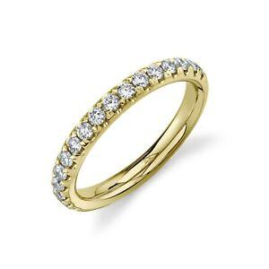 Womens 14K Yellow Gold Diamond Wedding Ring Band Round Cut Natural 0.50CT