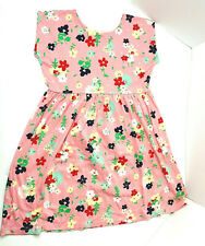 Hannah Anderson Girls Pink Multicolored Floral Play Dress Size 12 100% Cotton