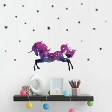 Fairy Unicorn Wall Sticker Girls Bedroom Nursery Vinyl Decal Room Mural Decor