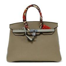 Birkin Style 35 cm Handbag Top Handle Tote in Beige