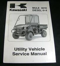 Kawasaki Mule 3010 Service Manual Trans 4X4 Diesel Utility Vehicle Repair 2008