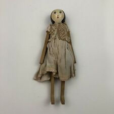 Antique Wooden Dryad of England Doll Original Clothing Very Collectible