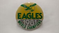 1981 Philadelphia Eagles World Champions Yellow Pin Error NOS