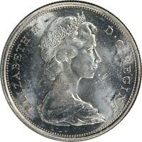 1965, 50c, Canada Silver Half Dollar - Elizabeth II - Uncirculated - KM#63  B