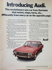 Lot of 2 Vintage 1970 Audi 100 LS Ads