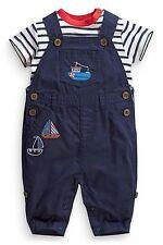 ВNWT NEXT Babygrows Trouthers • Boat Appliqué Dungarees & Bodysuit •Cotton 0-3m