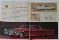 1965 Cadillac Fleetwood and Sedan DeVille Cars 2 page car ad