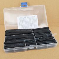 150tlg Schrumpfschlauch 2:1 Schrumpfschlauch Box Schwarz Set Sortiment NEU