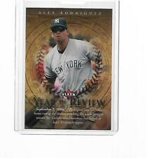 2007 FLEER BASEBALL YEAR IN REVIEW ALEX RODRIGUEZ #YR-AR