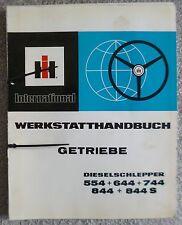 IHC Schlepper 554 + 644 + 744 + 844 + 844S Werkstatthandbuch Getriebe