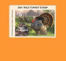 2001 NWTF WILD TURKEY STAMP CALL FREE SHIPPING